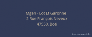 Contact MGEN BOE 47 Lot-et-Garonne