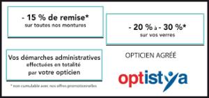 Cours, prix OPTICIENS AGGE OPTISTYA 1